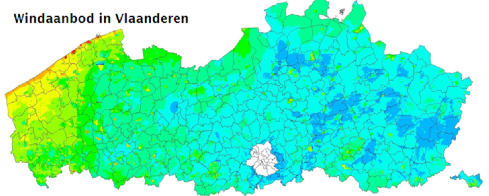 Windaanbod in Vlaanderen