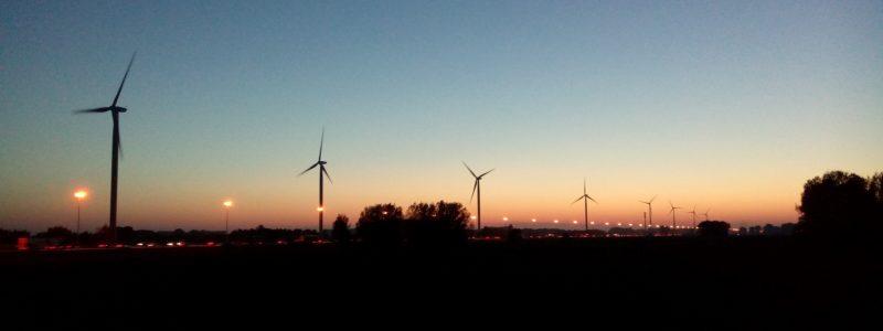 Windpark-avond